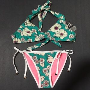Wildfox Swim 60's Floral Bikini Set